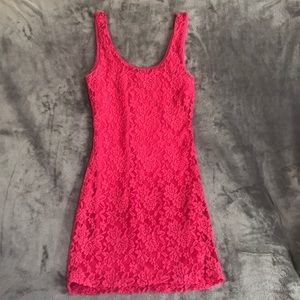 Fitted Bodycon Style Lace Dress